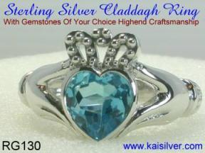 silver claddaug ring