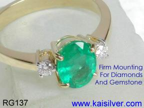 Emerald Diamond Rings Made To Order