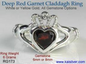 garnet men's engagement ring