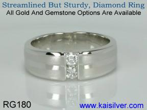 mens gold diamond rings made to order