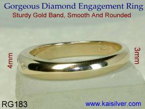 Engagement gold diamond rings
