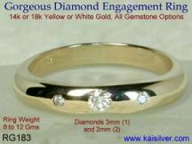 yellow gold diamond ring made to order
