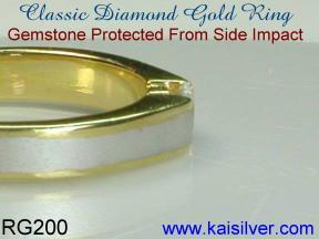 custom yellow or white gold diamond wedding ring