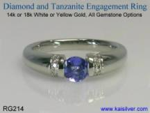 tanzanite wedding ring with diamonds