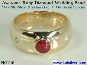custom ruby engagement rings