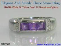 yellow or white gold custom jewelry