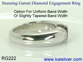 white gold engagement ring custom
