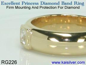 custom diamond princess cut ring