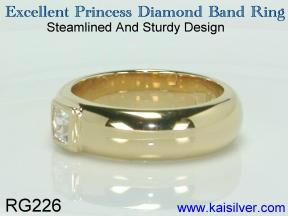 Diamond princess ring, diamond ring with princess cut diamond