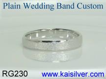 Plain wedding band for men