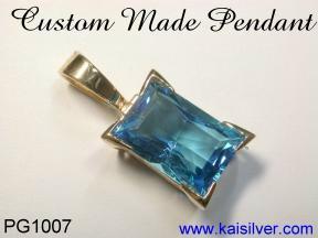 london blue topaz pendant